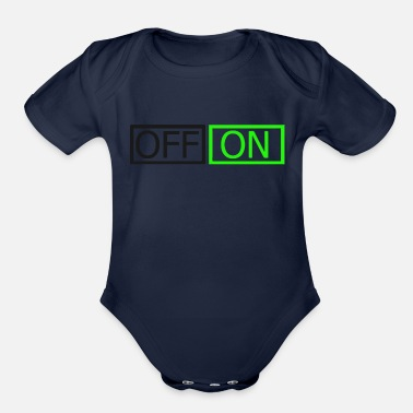 Off Off On - Organic Short Sleeve Baby Bodysuit