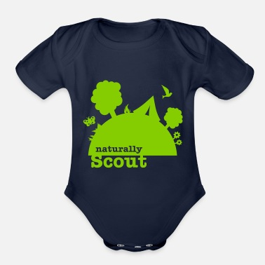 Natural Naturally scout - Organic Short Sleeve Baby Bodysuit