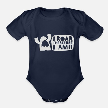 Mantra Monster Mantra - Organic Short-Sleeved Baby Bodysuit