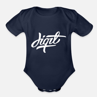 Digital Digit - Organic Short-Sleeved Baby Bodysuit