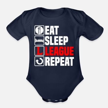 Legends Eat Sleep League of Legends - Organic Short-Sleeved Baby Bodysuit