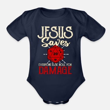 Damage Roll For Damage - Organic Short-Sleeved Baby Bodysuit