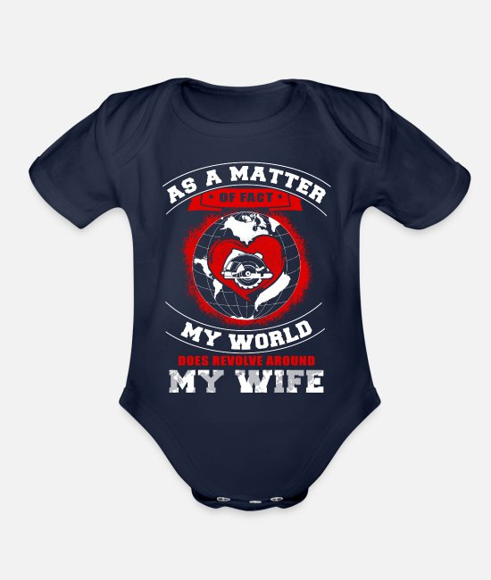 Woodcutte Baby One Pieces - Woodcutter - as a matter on fact chef my world doe - Organic Short-Sleeved Baby Bodysuit dark navy