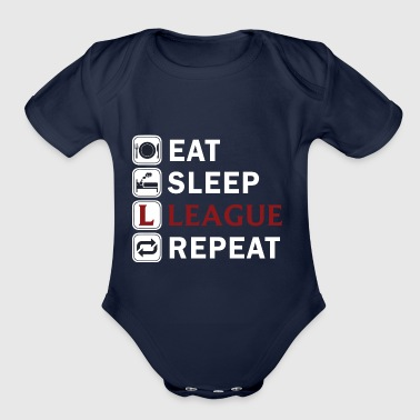 Eat Sleep League Repeat - Organic Short Sleeve Baby Bodysuit