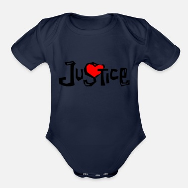 In Justice Justice - Organic Short Sleeve Baby Bodysuit