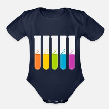 Test Tube test tubes - Organic Short-Sleeved Baby Bodysuit