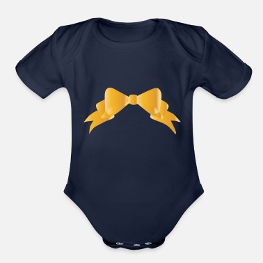 Bow Bow - Organic Short-Sleeved Baby Bodysuit