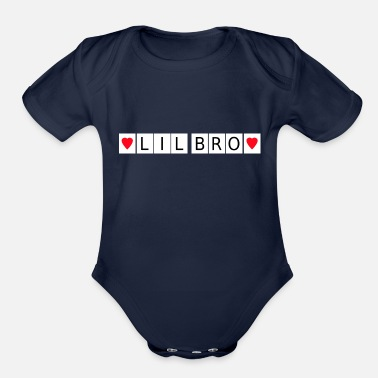 Birth Little Brother Lil Bro Baby Birth Family Sister - Organic Short-Sleeved Baby Bodysuit