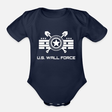 Border Security Force United States WALL FORCE (white) - Organic Short-Sleeved Baby Bodysuit