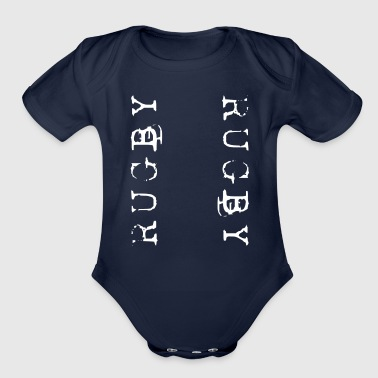 Rugby Rugby Rugby - Organic Short Sleeve Baby Bodysuit