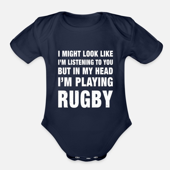 New Funny Personalised Long Sleeve Baby Vest My Uncle Loves Me not Rugby