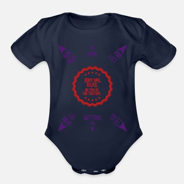 Proud Relax Dad, We Can Do This Together | Baby Manual - Organic Short Sleeve Baby Bodysuit