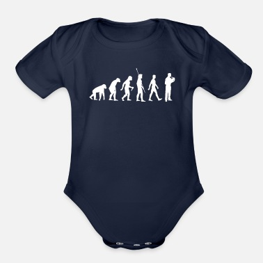 Uncle French Horn Player Evolution Musician Brass Band - Organic Short Sleeve Baby Bodysuit
