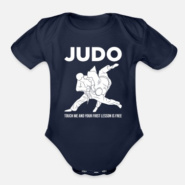 Jiujitsu Judo Touch Me the First Lesson's Free Martial Arts - Organic Short Sleeve Baby Bodysuit