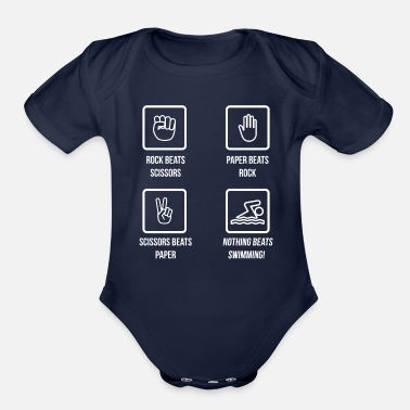 Scuba Diving Nothing Beats Swimming Diving Sea Pool Sports Gift - Organic Short Sleeve Baby Bodysuit