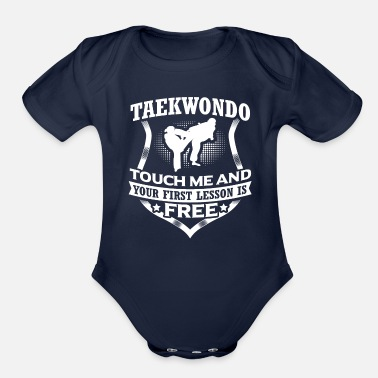 Aikido Taekwondo Touch Me Martial Arts Fighter Gift - Organic Short Sleeve Baby Bodysuit