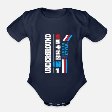Crook Underground - Organic Short-Sleeved Baby Bodysuit