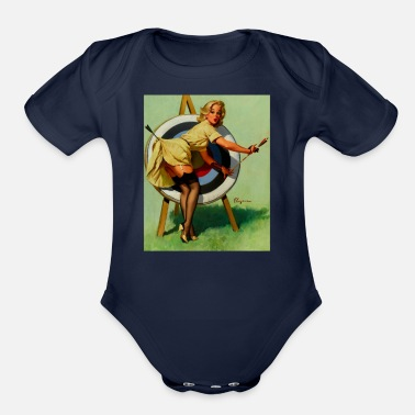 Pinup Archery Vintage Pinup - Organic Short Sleeve Baby Bodysuit