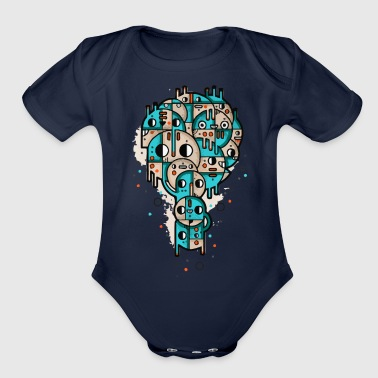 Stamp - Organic Short Sleeve Baby Bodysuit