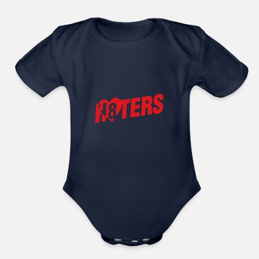Hater Haters - Organic Short-Sleeved Baby Bodysuit