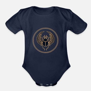 Ancient Ancient Egypte - Organic Short-Sleeved Baby Bodysuit