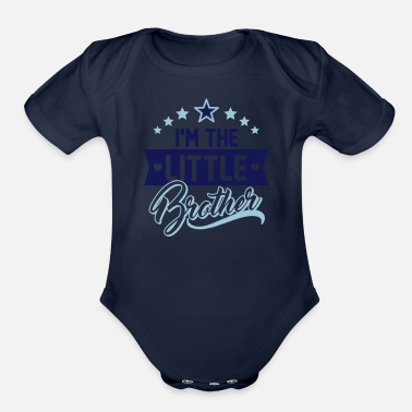 Little I'm the little brother - Siblings - Present - Baby - Organic Short-Sleeved Baby Bodysuit