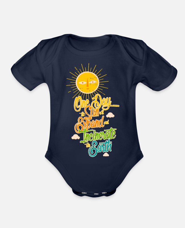 Day Of Prayer And Repentance Baby One Pieces - One Day - Organic Short-Sleeved Baby Bodysuit dark navy