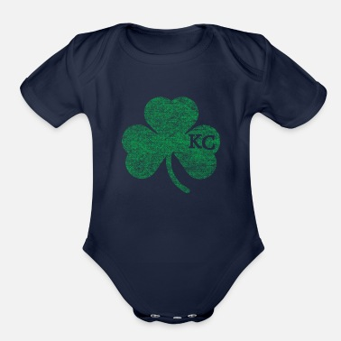 Kansas Old Kansas City Irish Shamrock Apparel - Organic Short-Sleeved Baby Bodysuit