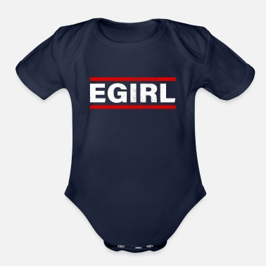 Pastel-goth Aesthetic Egirl Clothes for Teen Gift - Organic Short-Sleeved Baby Bodysuit