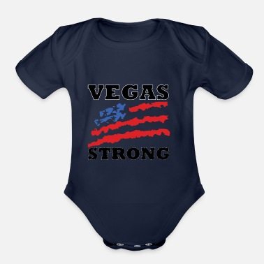 Vegas Vega Strong, Las Vegas Strong - Organic Short Sleeve Baby Bodysuit