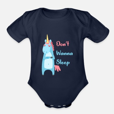 Unicorn, licorne lover - Organic Short-Sleeved Baby Bodysuit