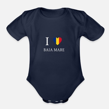 Mare Love Romania BAIA MARE - Organic Short-Sleeved Baby Bodysuit