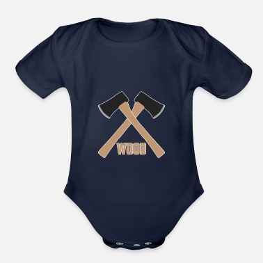Chopper wood axe - Organic Short-Sleeved Baby Bodysuit
