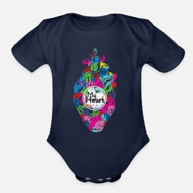 My Heart My Heart - Organic Short-Sleeved Baby Bodysuit