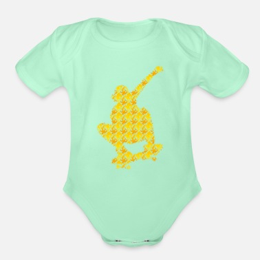 Graphic Art Skateboard Exclusive Design Gift Idea Graphic art - Organic Short-Sleeved Baby Bodysuit