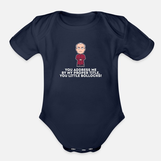 Bishop Baby Clothing - Bishop Brennan - Organic Short-Sleeved Baby Bodysuit dark navy