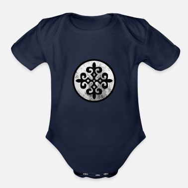 Ornament Kazakh ornament - Organic Short-Sleeved Baby Bodysuit