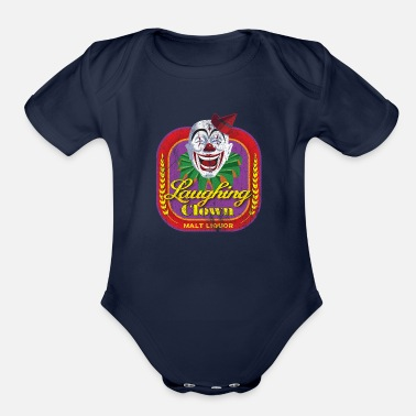 Liquor Laughing Clown Malt Liquor - Organic Short Sleeve Baby Bodysuit