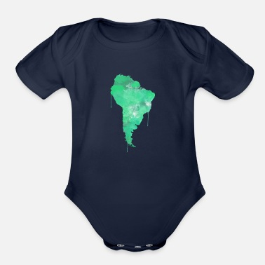 South America South America - Organic Short Sleeve Baby Bodysuit