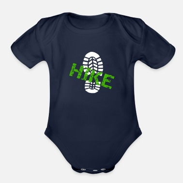 Hike Hiking Hike Bootprint Go for a Hike - Organic Short Sleeve Baby Bodysuit