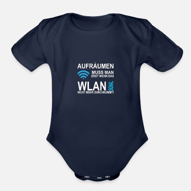 Mr. Clean you have to clean up Only When the wireless signal - Organic Short-Sleeved Baby Bodysuit