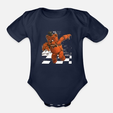 Freddy Fazbears Freddy Fazbear (Five Nights At Freddy's) - Organic Short-Sleeved Baby Bodysuit