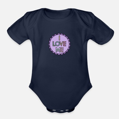 Weather Self Care I Love Me - Organic Short-Sleeved Baby Bodysuit