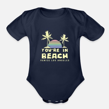 Venice Beach You're In Beach - Sunset - Organic Short-Sleeved Baby Bodysuit