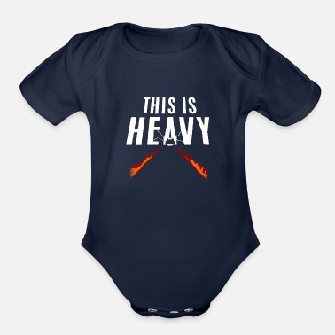 Heavy This Is Heavy - Organic Short-Sleeved Baby Bodysuit