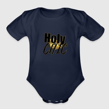 Holy Chic - Organic Short Sleeve Baby Bodysuit