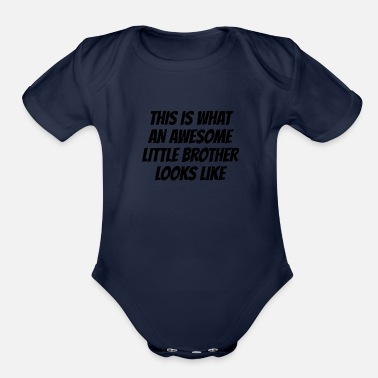Little Brother Awesome Little Brother - Organic Short Sleeve Baby Bodysuit