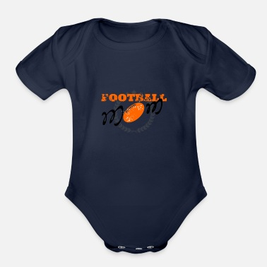 American Football Football mom, American football - Organic Short Sleeve Baby Bodysuit
