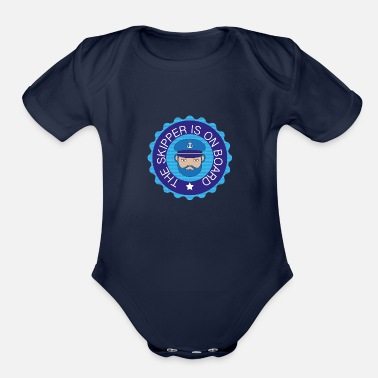 Skipper Funny A great gift for Sailors and Skippers - Organic Short-Sleeved Baby Bodysuit