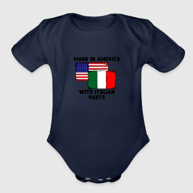 Made In America With Italian Parts - Organic Short Sleeve Baby Bodysuit